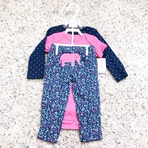 BOGO 🆕 Carter's 3 piece elephant baby girl set